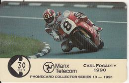 ISLE OF MAN(GPT) - TT Races 1991/Carl Fogarty, CN : 9IOME, Tirage 5045, Used