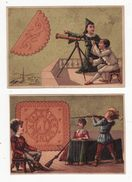 Lot De 2 Chromos   BISCUITS LU   Astronomie, Tir Au Fusil - Lu
