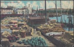 POS-301 CUBA POSTCARD. CIRCA 1910. HABANA HAVANA WHARF SCENE. HARBOR UNUSED. - Cuba