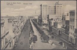 POS-302 CUBA POSTCARD. 1931. HABANA HAVANA PASEO DEL PRADO STREET - Cuba