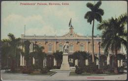 POS-306 CUBA POSTCARD. CIRCA 1910. HAVANA HABANA. PLAZA DE ARMAS. PRESIDENT´S HOUSE AND SENATE. UNUSED.
