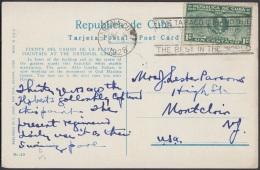 POS-296 CUBA POSTCARD. 1928. HABANA HAVANA. FUENTE DEL CASINO NACIONAL DE LA PLAYA MONTECARLO. FOUNTAIN. - Cuba