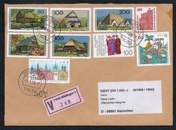 3303 - Alter Beleg Brief - Wertbrief V 249 - Böblingen Nach Hainichen 1998 - BRD