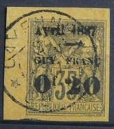 """Guyane -   4 A - Variété -  """" Av """" Renversé - Signé Miro  ( Plus Une Autre Marque ) -  Obl  -"""