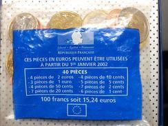 SACHET DE 40 PIÈCES LANCEMENT DE L'EURO:  1999 Et 2000 - France