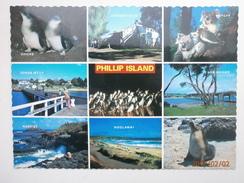 Postcard Phillip Island Western Port Bay Victoria Australia Multiview Nice Stamps  My Ref B2242 - Australia