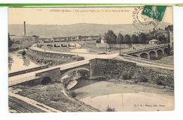CPA-69-1910-GIVORS-LES QUATRE PONTS SUR LA GARE D'EAU ET LE GIER- - Givors