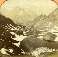 France Pyrénées Glacier Du Mont Perdu Gavarnie Anciennne Photo Stereo Transparente Andrieu 1860 - Photos Stéréoscopiques