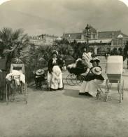 France Nice Meres Ou Nourrices Et Landaus Nouveaux Jardins Ancienne Photo Stereo NPG 1905 - Stereoscopic