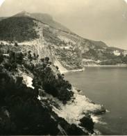 France Eze Route De Monaco A La Turbie Ancienne Photo Stereo NPG 1905 - Stereoscopic