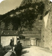 France Menton Frontiere Italienne Pont Saint Louis Triangle Ancienne Photo Stereo NPG 1905