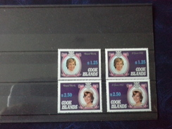 Cook Islands 1982 Birth Of Prince William Of Wales (2nd Issue) SG/NO 843/846 MNH - Cookeilanden