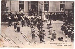 CPA SUISSE.PROCLAMATION DE LA FETE DES VIGNERONS A VEVEY 1905 - Suisse