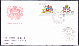 Orden Von Malta   S.M.O.M. - Flugpostmarken/Airmail Stamps/Timbres Airmail (Unificato A1/2) 1982 - FDC - Malte (Ordre De)