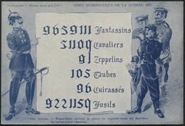 SÉRIE HUMORISTIQUE DE LA GUERRE 1914 :  Carte De Propagande - Humour