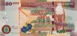 ZAMBIA 20000 KWACHA 2011 P-47g UNC [ZM149g] - Zambia