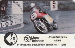 ISLE OF MAN(GPT) - TT Races 1991/John Surtees, CN : 9IOMC, Tirage 5045, Used