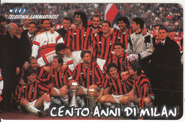 SAN MARINO - AC MILAN 1899-1999(LB), Tirage 25000, Mint - San Marino