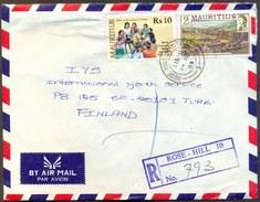 MAURITIUS - INDIA - NEHRU & CHILDREN On AIRMAIL  Letter - 1989 - India
