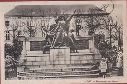 Aalst Alost Standbeeld Der Gesneuvelden Geanimeerd !! ZELDZAAM Monument Aux Morts WW1 WWI 1914-1918 Oude Postkaart - Aalst