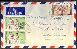 MAURITIUS - INDIA - NEHRU  INDIRA GANDHI  RAJIV  SANJAY On AIRMAIL  Letter - 1989 - India