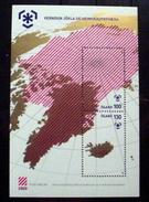 ICELAND # 1162. 100k/130k, Souvenir Sheet. International Polar Year, Map Of North Pole, Greenland. MNH (**) - 1944-... Republic