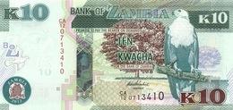 ZAMBIE 10 KWACHA 2012 (2013) P-51a NEUF [ZM154a] - Sambia