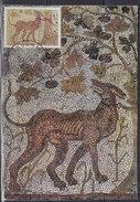 Yugoslavia 1970 Art (Mosaic) - Cerberus From Greek Mythology, CM (Carte Maximum) Michel 1370 - Maximumkaarten