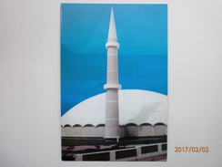 Postcard A Beautyful Mosque Of Defence Society Karachi Pakistan Afzal Stores Stamp My Ref B2252 - Pakistan