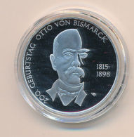 Deutschland 2015 10 Euro Silber - 200. Geb. Otto V. Bismarck - PP / Spiegelglanz - Germany