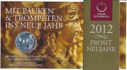 Österreich 2012 - Original 5 Euro Silber - 200 J. Musikfreunde - Handgehoben - Austria
