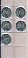Deutschland 2015 - 5x Original 2 Euro Gedenkmünzen - 25 Jahre Deutsche Einheit - Germany