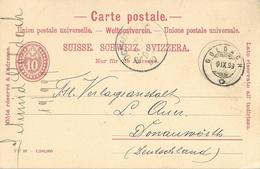PK 28  Goldach - Donauwörth D  (Schnapsdatum 9.IX.99)          1899 - Stamped Stationery