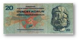 CZECHOSLOVAKIA - 20 Korun - 1970 ( 1971 ) - Pick 92 - Serie H 04 - Jan Ziska - 2 Scans - Tchécoslovaquie