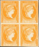 ISABEL II Isabel II. 11 De Abril De 1856. Papel Blanco * NE1(4) - 1850-68 Kingdom: Isabella II