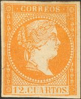 ISABEL II Isabel II. 11 De Abril De 1856. Papel Blanco * NE1A - 1850-68 Kingdom: Isabella II
