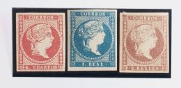 ISABEL II Isabel II. 11 De Abril De 1856. Papel Blanco */(*) 48A, 49, 50 - 1850-68 Kingdom: Isabella II