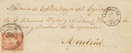 ISABEL II Isabel II. 11 De Abril De 1856. Papel Blanco Sobre 48 - 1850-68 Kingdom: Isabella II
