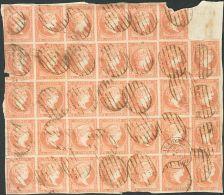 ISABEL II Isabel II. 11 De Abril De 1856. Papel Blanco Fragmento 48(34) - 1850-68 Kingdom: Isabella II