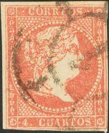 ISABEL II Isabel II. 11 De Abril De 1856. Papel Blanco º 48F - 1850-68 Kingdom: Isabella II