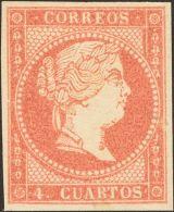 ISABEL II Isabel II. 11 De Abril De 1856. Papel Blanco * 48B - 1850-68 Kingdom: Isabella II