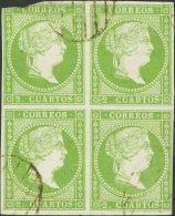 ISABEL II Isabel II. 11 De Abril De 1856. Papel Blanco º 47(4) - 1850-68 Kingdom: Isabella II