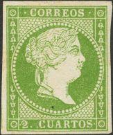 ISABEL II Isabel II. 11 De Abril De 1856. Papel Blanco (*) 47 - 1850-68 Kingdom: Isabella II