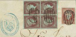 ISABEL II Isabel II. 1 De Abril De 1855. Filigrana Lazos Fragmento 40, 42(4) - 1850-68 Kingdom: Isabella II
