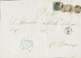 ISABEL II Isabel II. 1 De Enero De 1855. Servicio Oficial Sobre 36(3), 37 - 1850-68 Kingdom: Isabella II