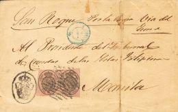 ISABEL II Isabel II. 1 De Enero De 1855. Servicio Oficial Sobre 36(2) - 1850-68 Kingdom: Isabella II