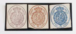 ISABEL II Isabel II. 1 De Enero De 1855. Servicio Oficial (*) 38P(3) - 1850-68 Kingdom: Isabella II