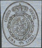 ISABEL II Isabel II. 1 De Enero De 1855. Servicio Oficial * 35/38 - 1850-68 Kingdom: Isabella II