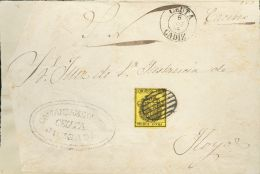 ISABEL II Isabel II. 1 De Julio De 1854. Servicio Oficial Sobre 28 - 1850-68 Kingdom: Isabella II