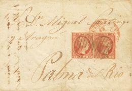 ISABEL II Isabel II. 1 De Enero De 1853 Sobre 17(2) - 1850-68 Kingdom: Isabella II